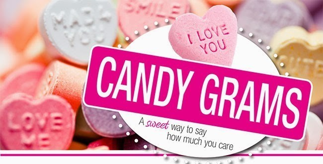 Student Council still has some leftover Candy Grams to sell! Come to Room 3 before school tomorrow for your last opportunity to send your friends, your teachers, your favorite principal, or even yourself a loving Candy Gram!